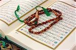 Holy Quran with wooden rosary Stock Photo - Royalty-Free, Artist: ademdemir                     , Code: 400-04899019
