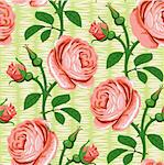 seamless romantic rose pink background design pattern Stock Photo - Royalty-Free, Artist: 100ker                        , Code: 400-04900401