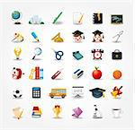 set of school icons,back to school button Stock Photo - Royalty-Free, Artist: notkoo2008                    , Code: 400-04900644