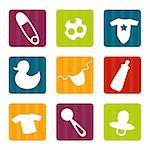 Baby icons, vector illustration Stock Photo - Royalty-Free, Artist: kariiika                      , Code: 400-04900698