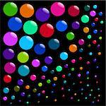 background with bubbles - vector Stock Photo - Royalty-Free, Artist: paunovic                      , Code: 400-04901258