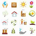 Eco and environment icon set Stock Photo - Royalty-Free, Artist: soleilc                       , Code: 400-04901341