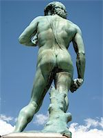 Rear view of the famous statue of Davide in Michelangelo's square, Florence (Italy) Stock Photo - Royalty-Freenull, Code: 400-04901495