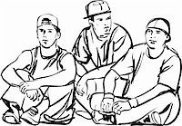 a black and white sketch of the guys Stock Photo - Royalty-Freenull, Code: 400-04901501