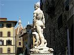 Nice view of statues in Signoria's square with the cupola of famous Dome on the background, Florence (Italy). Stock Photo - Royalty-Free, Artist: franxyz                       , Code: 400-04901523
