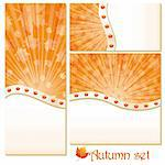 Set of autumn banners and backgrounds, vector illustration Stock Photo - Royalty-Free, Artist: MarketOlya                    , Code: 400-04902440