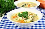 a cup of chicken soup with fresh vegetables Stock Photo - Royalty-Free, Artist: silencefoto                   , Code: 400-04902495