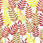 Autumn background. Leaves seamless pattern. Vector leaf. Foliage wallpaper. Stock Photo - Royalty-Free, Artist: svetap                        , Code: 400-04902783