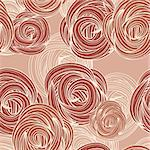 vector seamless pattern with roses Stock Photo - Royalty-Free, Artist: alexmakarova                  , Code: 400-04903294