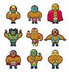 cartoon wrestler icon   Stock Photo - Royalty-Free, Artist: notkoo2008                    , Code: 400-04903355