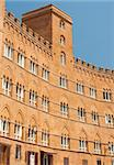 A building on a main square in Siena, Italy, Tuscany Stock Photo - Royalty-Free, Artist: lindom                        , Code: 400-04904220