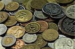 Old coins of several countries and colors Stock Photo - Royalty-Free, Artist: marphotography                , Code: 400-04906158