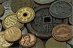 Old coins of several countries and colors Stock Photo - Royalty-Free, Artist: marphotography                , Code: 400-04906161