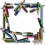 pencil frame Stock Photo - Royalty-Free, Artist: williammpark, Code: 400-04907260