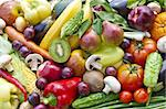 Assortment  from vegetables and fruits, close up Stock Photo - Royalty-Free, Artist: A7880S                        , Code: 400-04907535
