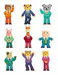 Cartoon animal icons set Stock Photo - Royalty-Free, Artist: notkoo2008                    , Code: 400-04908486