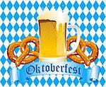 Oktoberfest Celebration Background with Beer and Pretzel Stock Photo - Royalty-Free, Artist: Dazdraperma                   , Code: 400-04910681
