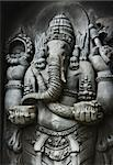 A statue of Ganesha, one of the Hindu Gods, carved in the style of Javanese art. Stock Photo - Royalty-Free, Artist: rudall30                      , Code: 400-04910736