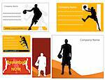 basketball business card and poster     Stock Photo - Royalty-Free, Artist: nezezon                       , Code: 400-04911820