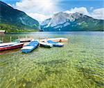 Beautiful summer Alpine  lake Altausseer view (Austria)