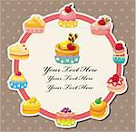 cartoon cake card   Stock Photo - Royalty-Free, Artist: notkoo2008                    , Code: 400-04913292