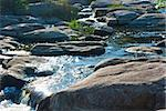 Mountain river and stones in early morning sunrise Stock Photo - Royalty-Free, Artist: A7880S                        , Code: 400-04914221