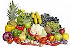 The group of vegetables and fruits on white background Stock Photo - Royalty-Free, Artist: A7880S                        , Code: 400-04914224
