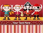 cartoon pirate card   Stock Photo - Royalty-Free, Artist: notkoo2008                    , Code: 400-04914955