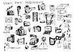hand drawn microstock symbols  isolated on the white background Stock Photo - Royalty-Free, Artist: jonnysek                      , Code: 400-04917369