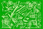 hand drawn arrows collection in the green colors Stock Photo - Royalty-Free, Artist: jonnysek                      , Code: 400-04917375