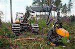Heavy machine used for deforestation in clearing Stock Photo - Royalty-Free, Artist: PinkBadger                    , Code: 400-04918528