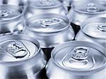 Several soda or beer cans. Shallow depth of field. Stock Photo - Royalty-Free, Artist: AntonPrado                    , Code: 400-04919447