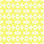 Beautiful seamless pattern of floral and dots