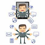 set of funny cartoon businessman in various poses for use in presentations, etc. Stock Photo - Royalty-Free, Artist: artenot                       , Code: 400-04919540