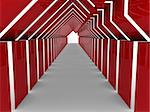 3d house tunnel red home estate business Stock Photo - Royalty-Free, Artist: dak                           , Code: 400-04919987