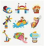 cartoon playground icons