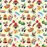 cartoon playground seamless pattern Stock Photo - Royalty-Free, Artist: notkoo2008                    , Code: 400-04920135