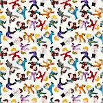 cartoon chinese Kung fu seamless pattern Stock Photo - Royalty-Free, Artist: notkoo2008                    , Code: 400-04920136