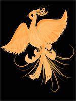 frbird - Illustration of fire-bird Stock Photo - Royalty-Freenull, Code: 400-04920273