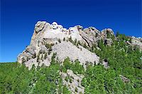 south dakota black hills national forest - Mount Rushmore National Memorial carved into the peaks of the Black Hills in South Dakota. Stock Photo - Royalty-Freenull, Code: 400-04921193