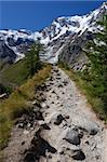 Summer view of a Trail to Monte Rosa, Italy Stock Photo - Royalty-Free, Artist: aletermi                      , Code: 400-04921229