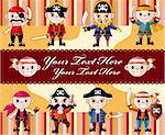 cartoon pirate card   Stock Photo - Royalty-Free, Artist: notkoo2008                    , Code: 400-04921376
