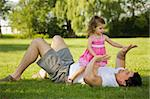 father with his daughter outdoors playing together Stock Photo - Royalty-Free, Artist: zdenkadarula                  , Code: 400-04922102