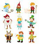 cartoon story people icons Stock Photo - Royalty-Free, Artist: notkoo2008                    , Code: 400-04922681