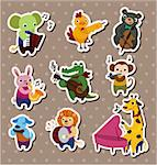 animal play music Stickers,Label Stock Photo - Royalty-Free, Artist: notkoo2008                    , Code: 400-04922685