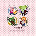 animal music card Stock Photo - Royalty-Free, Artist: notkoo2008                    , Code: 400-04922686