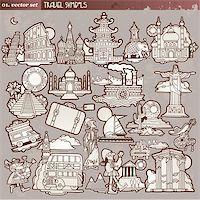 Vintage travel symbols Stock Photo - Royalty-Freenull, Code: 400-04922712