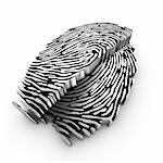 deep 3d fingerprint analysis using cutting plane Stock Photo - Royalty-Free, Artist: ctjk                          , Code: 400-04922965