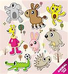 cartoon animal icons Stock Photo - Royalty-Free, Artist: notkoo2008                    , Code: 400-04923703