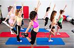 Group of gym people in a stretching class. Stock Photo - Royalty-Free, Artist: get4net, Code: 400-04924553